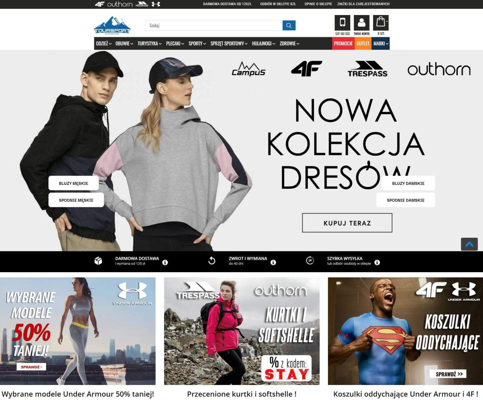 toursport.pl - sprzęt turystyczny i sportowy