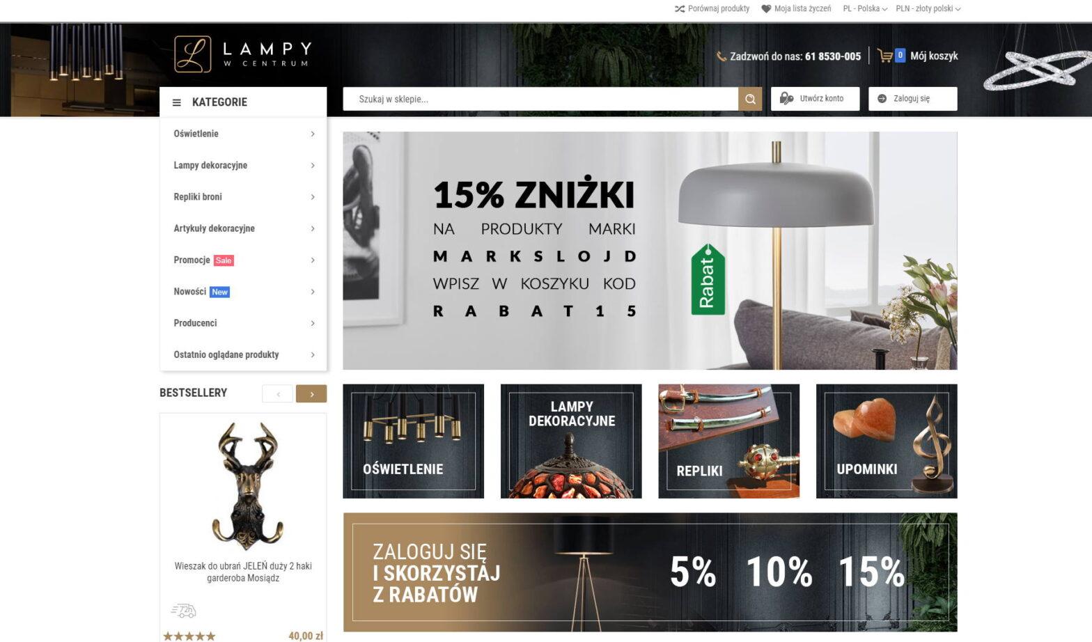 lampywcentrum.pl - Lampy w każdym rozmiarze, artykuły dekoracyjne.