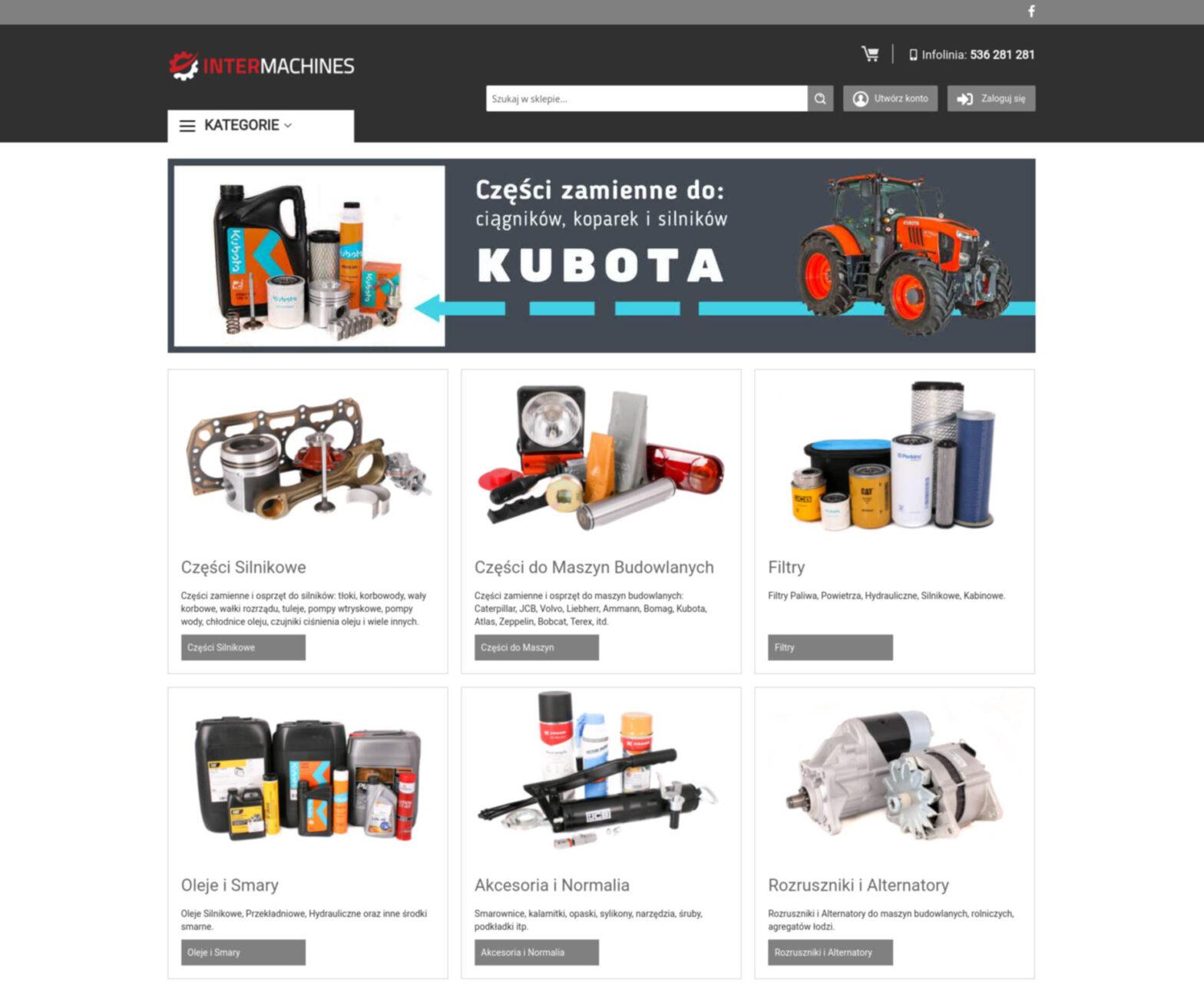 intermachines.pl - sklep z częściami do maszyn budowlanych i rolniczych